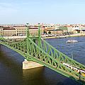 Liberty Bridge And Budapest Skyline by Artur Bogacki