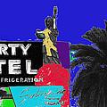 Liberty Motel Sign Statue Of Liberty Phoenix Arizona 1990-2008 by David Lee Guss