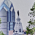 Liberty Place And City Hall by Bill Cannon