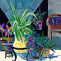 Library Courtyard-rhodes Old Town by Adele Bower