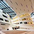 Library Interior 2  Zaha Hadid Wu Campus Vienna  by Menega Sabidussi