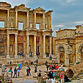 Library Of Celsus In Ephesus-turkey by Ruth Hager