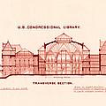 Library Of Congress Design 1877 by Mountain Dreams