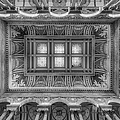 Library Of Congress Main Hall Ceiling Bw by Susan Candelario