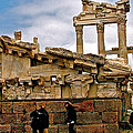 Library On The Pergamum Acropolis-turkey by Ruth Hager