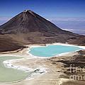 Licancabur Volcano And Laguna Verde by James Brunker