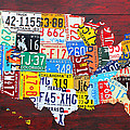 License Plate Art Map of the USA Edition 14 by Design Turnpike by Design Turnpike