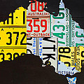 License Plate Map Of Australia by Design Turnpike