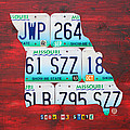License Plate Map Of Missouri - Show Me State - By Design Turnpike by Design Turnpike