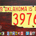 License Plate Map of Oklahoma by Design Turnpike by Design Turnpike