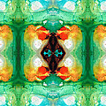 Life Patterns 1 - Abstract Art By Sharon Cummings by Sharon Cummings