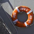Life Ring Uss Iowa Battleship by Thomas Woolworth