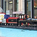 Life Size Toy Train Set In Nyc by John Telfer