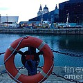 Lifebelt At Albert Dock by Joan-Violet Stretch