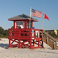 Lifeguard Siesta Beach by Christiane Schulze Art And Photography
