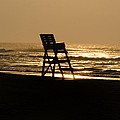 Lifeguard Chair In The Mornng by Bill Cannon