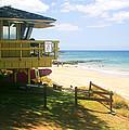 Lifeguard Hut On The Beach by John Orsbun