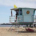 Lifeguard Shack At The Santa Cruz Beach Boardwalk California 5d23710 by Wingsdomain Art and Photography