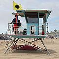 Lifeguard Shack At The Santa Cruz Beach Boardwalk California 5d23711 by Wingsdomain Art and Photography