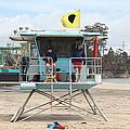 Lifeguard Shack At The Santa Cruz Beach Boardwalk California 5d23713 by Wingsdomain Art and Photography