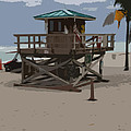 Lifeguard Station IIi Abstract by Christiane Schulze Art And Photography