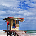 Lifeguard Station In Hollywood Florida by Terry Rowe