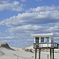Lifeguard Station Island Beach State Park Nj by Terry DeLuco