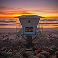 Lifeguard Tower At Dusk by Peter Tellone