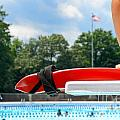 Lifeguard Watches Swimmers by Amy Cicconi