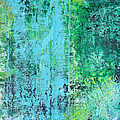 Light Blue Green Abstract Explore By Chakramoon by Belinda Capol