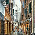 Light From San Salvador Merceria Del Capitello San Marco Venezia by Carolyn Coffey Wallace