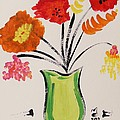 Light Green Vase by Mary Carol Williams