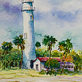 Light House At The Beach by Jyotika Shroff