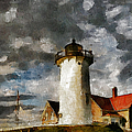 Light House In A Storm by Georgiana Romanovna