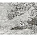 Light House On San Juan Island Lime Point Lighthouse by Jack Pumphrey