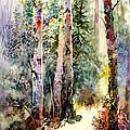 Light In The Woods by Vladimir Zhikhartsev