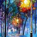 Light Of Luck - Palette Knife Oil Painting On Canvas By Leonid Afremov by Leonid Afremov
