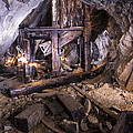 Light Painting In A Gold Mine 2 by Charlie Duncan