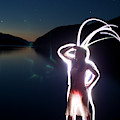Light Painting Of An Adult Woman by Woods Wheatcroft