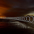 Light Play On Saunton Sands by Pete Hemington