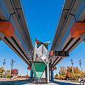 Light Rail Train Station In   Charlotte Nc by Alex Grichenko