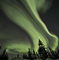 light swirls over the midnight dome by Priska Wettstein
