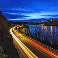 Light Trails On 99e by David Gn