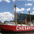 Light Vessel Chesapeake - Baltimore Harbor by Christiane Schulze Art And Photography