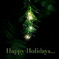 Lighted Dewdrops Holiday Greeting Card by Mark Andrew Thomas