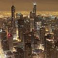 Lighted Downtown by Hasnain Shabbir