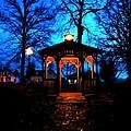 Lighted Gazebo Sunset Park by Cynthia Woods