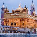 Lighted Golden Temple by Devinder Sangha