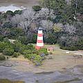 Lighthouse Aerial Near Jekyll Island by Betsy Knapp