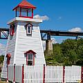 Lighthouse And Bridge by Les Palenik